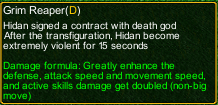 naruto castle defense 6.0 Hidan Grim Reaper detail