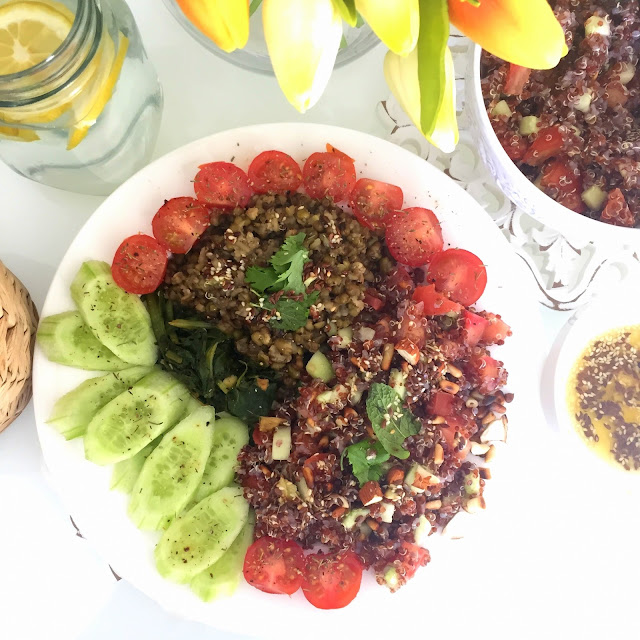 Red Quinoa Salad - Vegan Quinoa Recipe - Vegan Recipes Style Destino