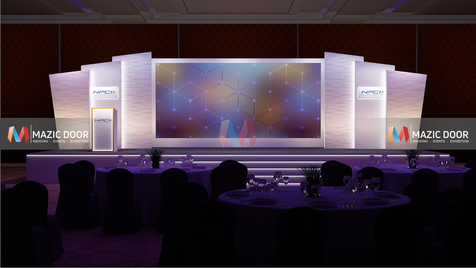 Conference Stage Design Mazic Door