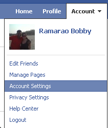 Facebook Account >> Account Settings