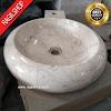 Wastafel marmer tulungagung donat plus asli batu alam diameter 40 cm