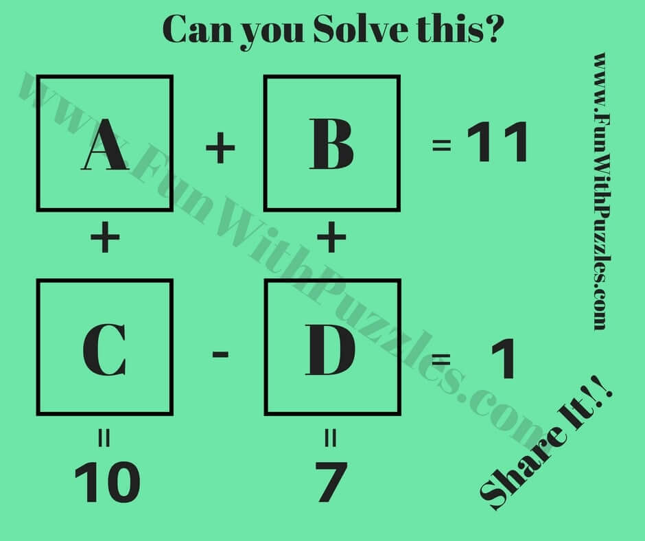 1 Can You Solve This To Find Value Of A B C And D
