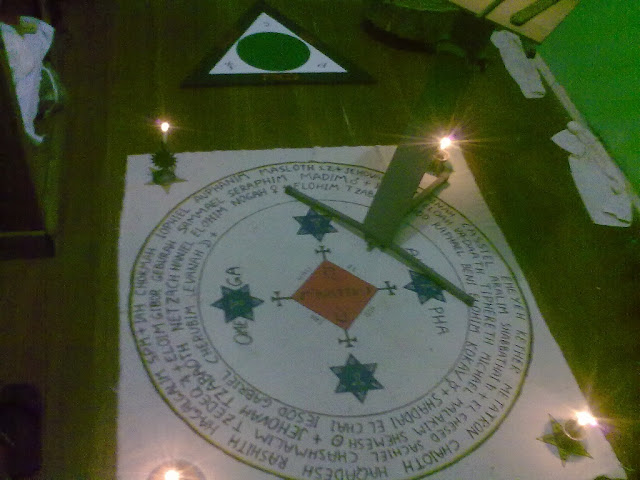 Goetia circle and triangle of art.