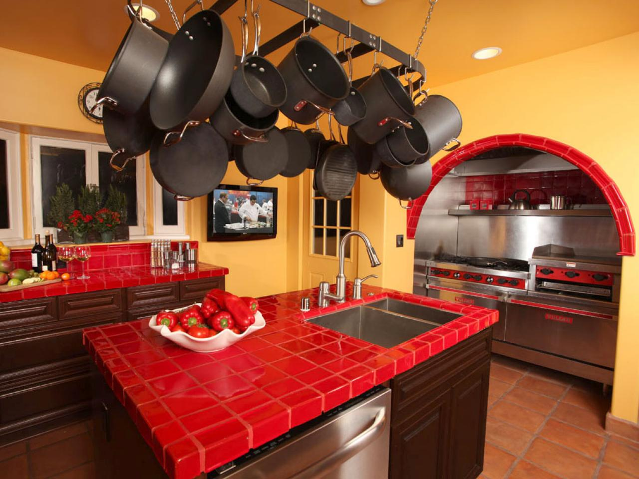 Great Imperial Red Granite Kitchen Countertop Ideas