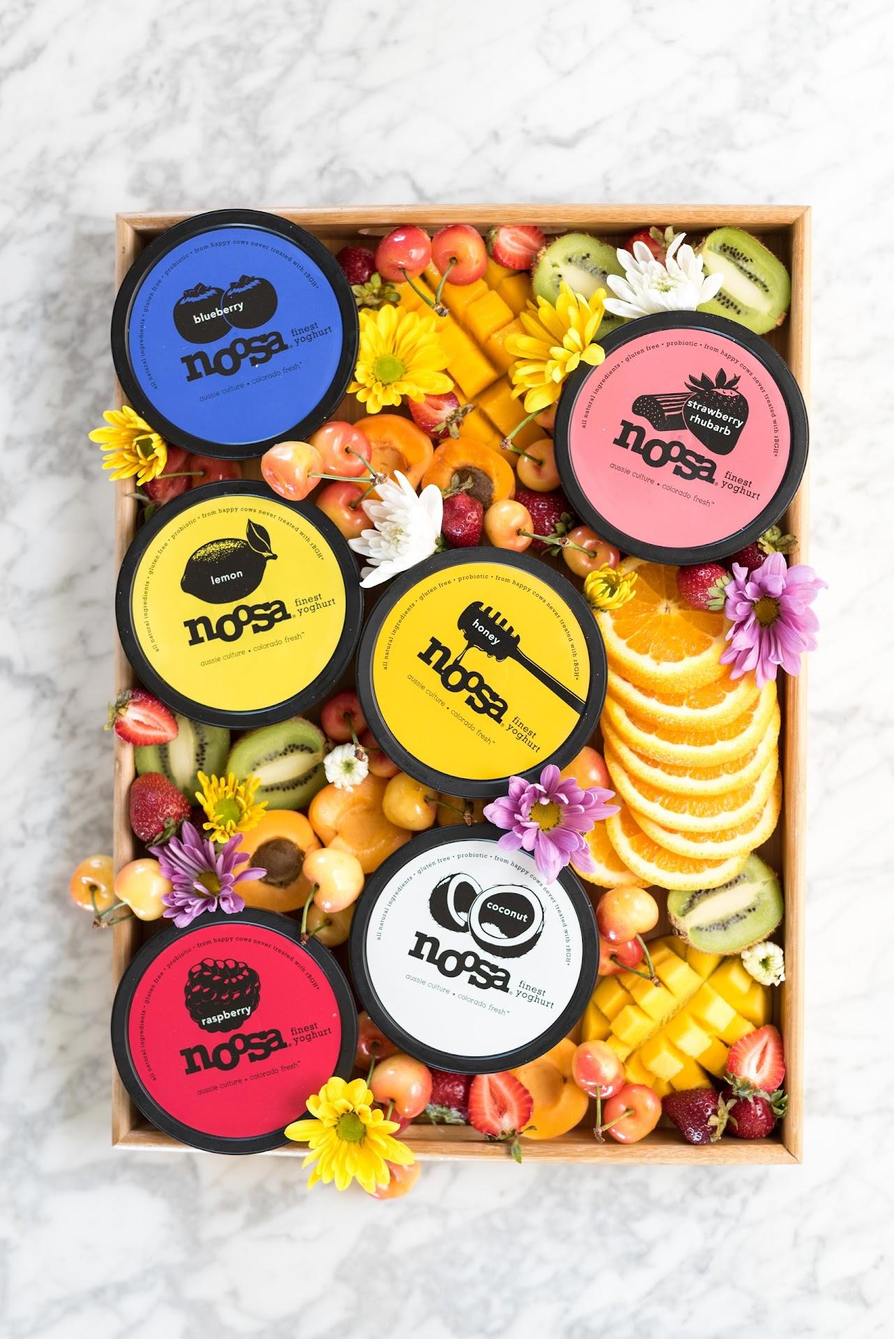 breakfast, breakfast tray, fruit platter, ultimate fruit platter, pretty, unique, yogurt toppings, summer fruit, fruit photography, food blogger, utah, lds, noosa review, best yogurt,