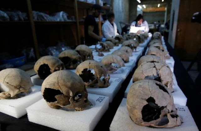 Tower of human skulls in Mexico casts new light on Aztecs