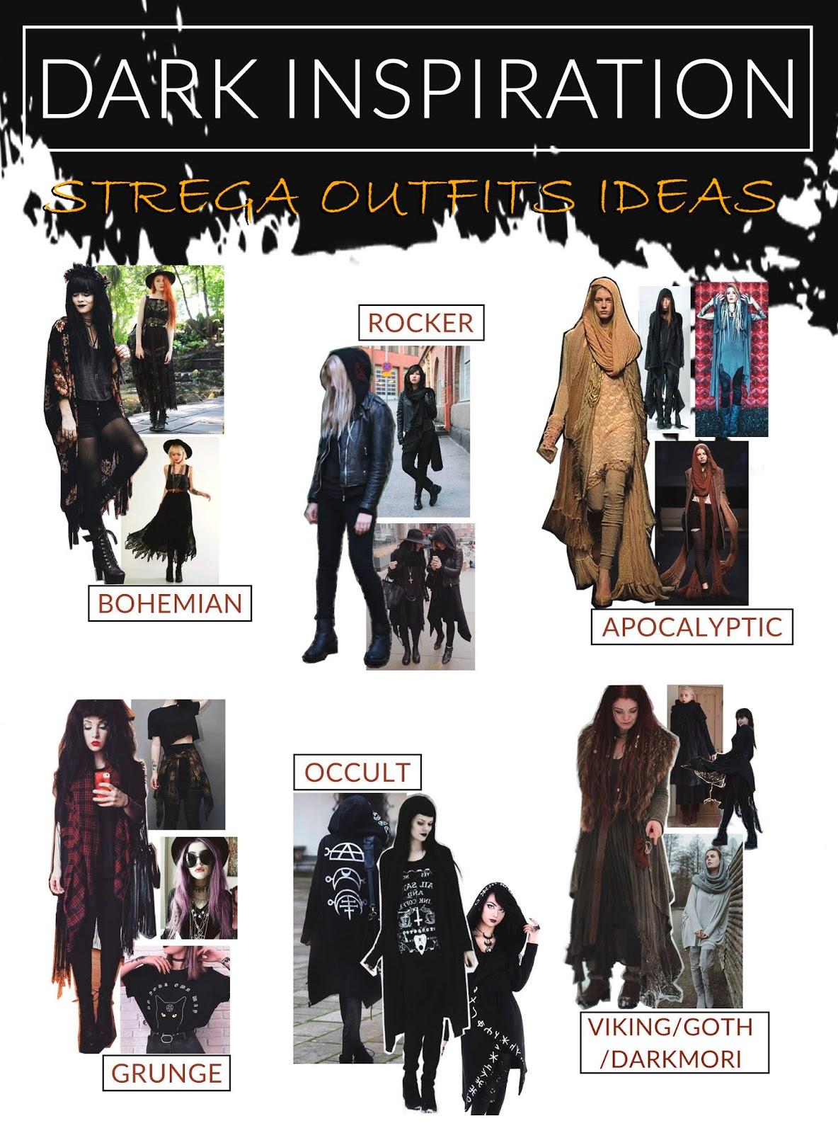 Estilos que se pueden tener en cuenta para vestir como bruja moderna