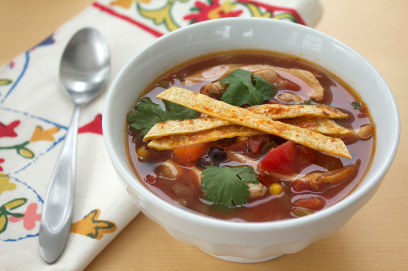 Chicken Tortilla Soup || A Less Processed Life