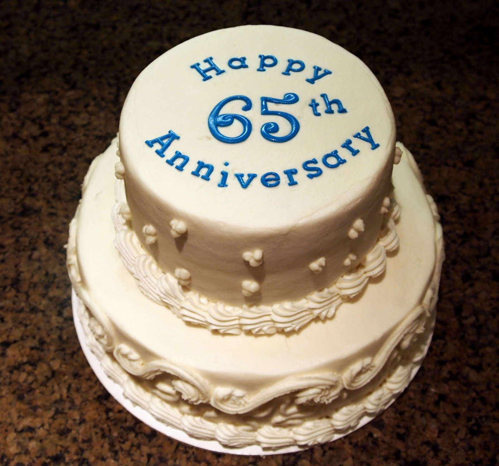 65 Wedding Anniversary Gift: Becky Kelly Cakes: 65th Anniversary