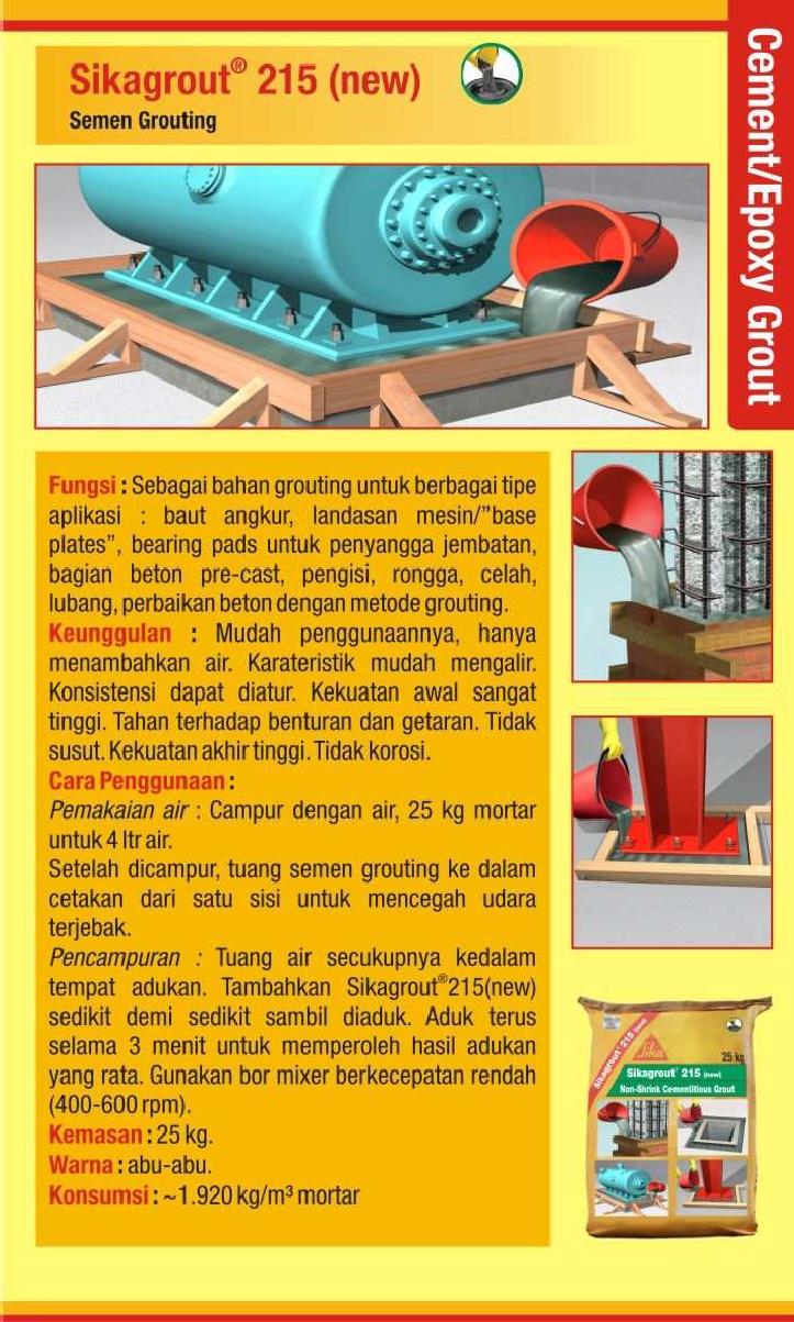 Daftar Harga Baja Ringan Oktober 2018 Cement / Epoxy Grout : Sika ~ Pemasuk Material Bangunan