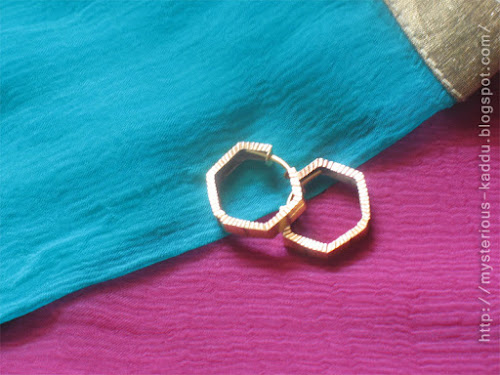 My ear-rings, in the shape of Benzene rings!