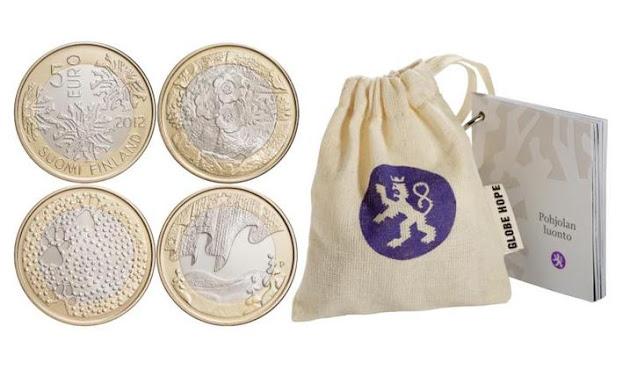 5 euroa pohjolan luonto kolikko 2012