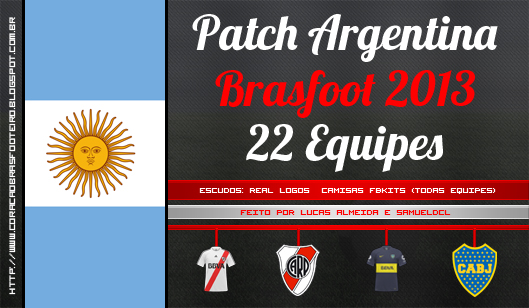 patch brasfoot 2013 argentina gratis