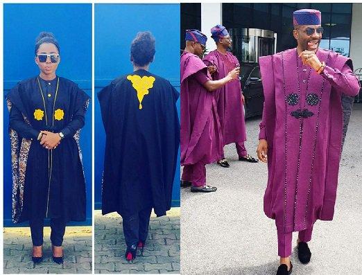Photos: Yemisi Kaka Copied Ebukas Legendary Agbada perfectly, Yay or Nay?