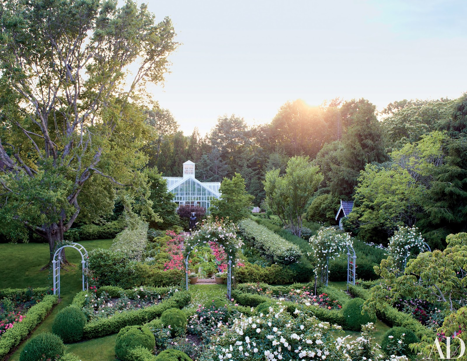 Hamptons garden of Peter Marino