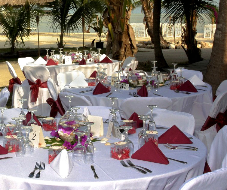 Beach Wedding Reception Ideas: Natural Wedding Decoration