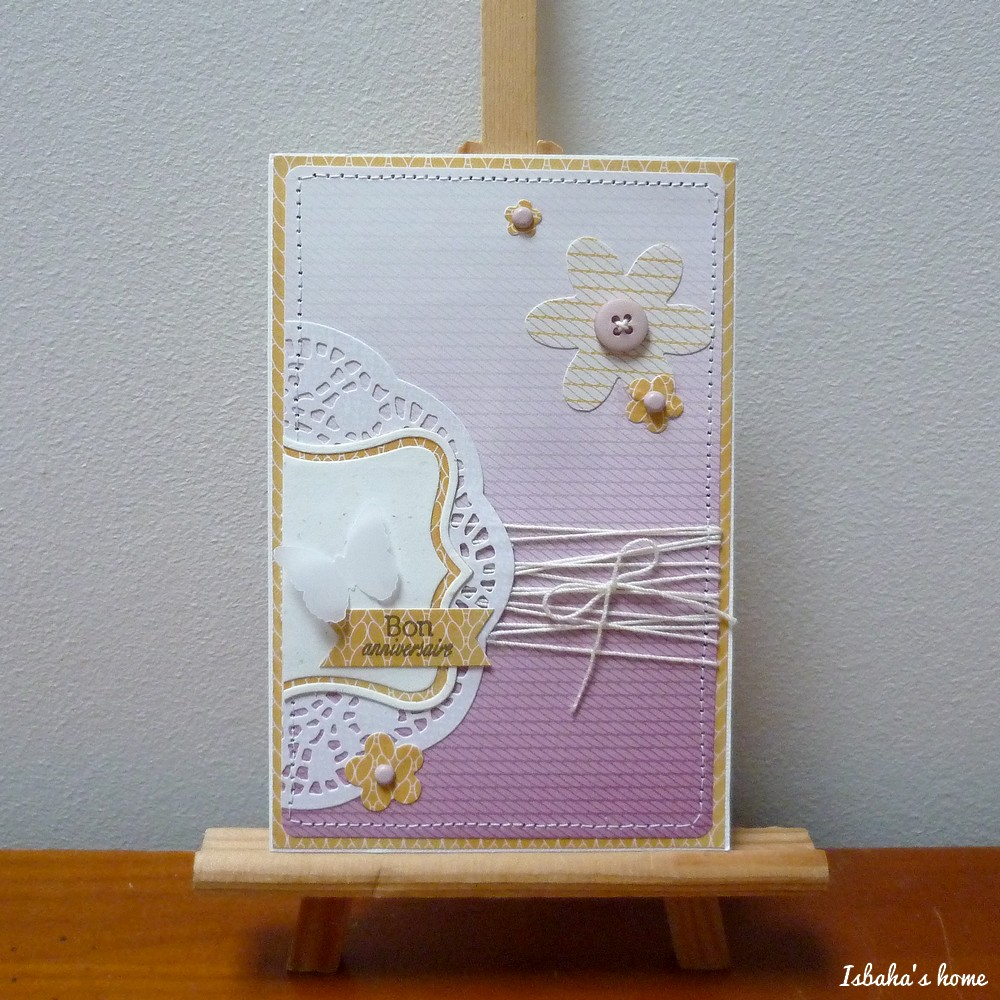 handmade birthday card papercrafting