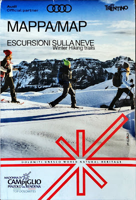 Winter Hiking Trails Map (Escursioni sulla neve) for Madonna di Campiglio. Front Cover.