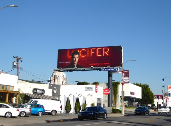 Lucifer series premiere billboard