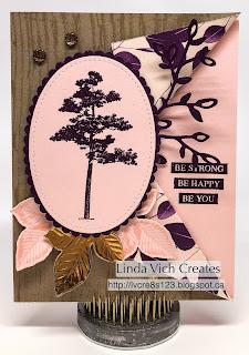 Linda Vich Creates: Nature's Poem. The lovely Nature's Poem DSP combines with the Rooted in Nature stamp set to produce a lovely card, suitable for either a man or a woman.