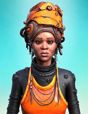 """AKARI"" - OOMOU characters by Andy Lee | imagenes chidas de arte digital, personajes de novela grafica, comic"