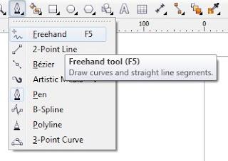 cara membuat garis di corel draw