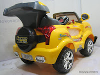 5 Mobil Mainan Aki Junior Z631 Thunder Jeep dengan Simulasi Mesin Bergetar