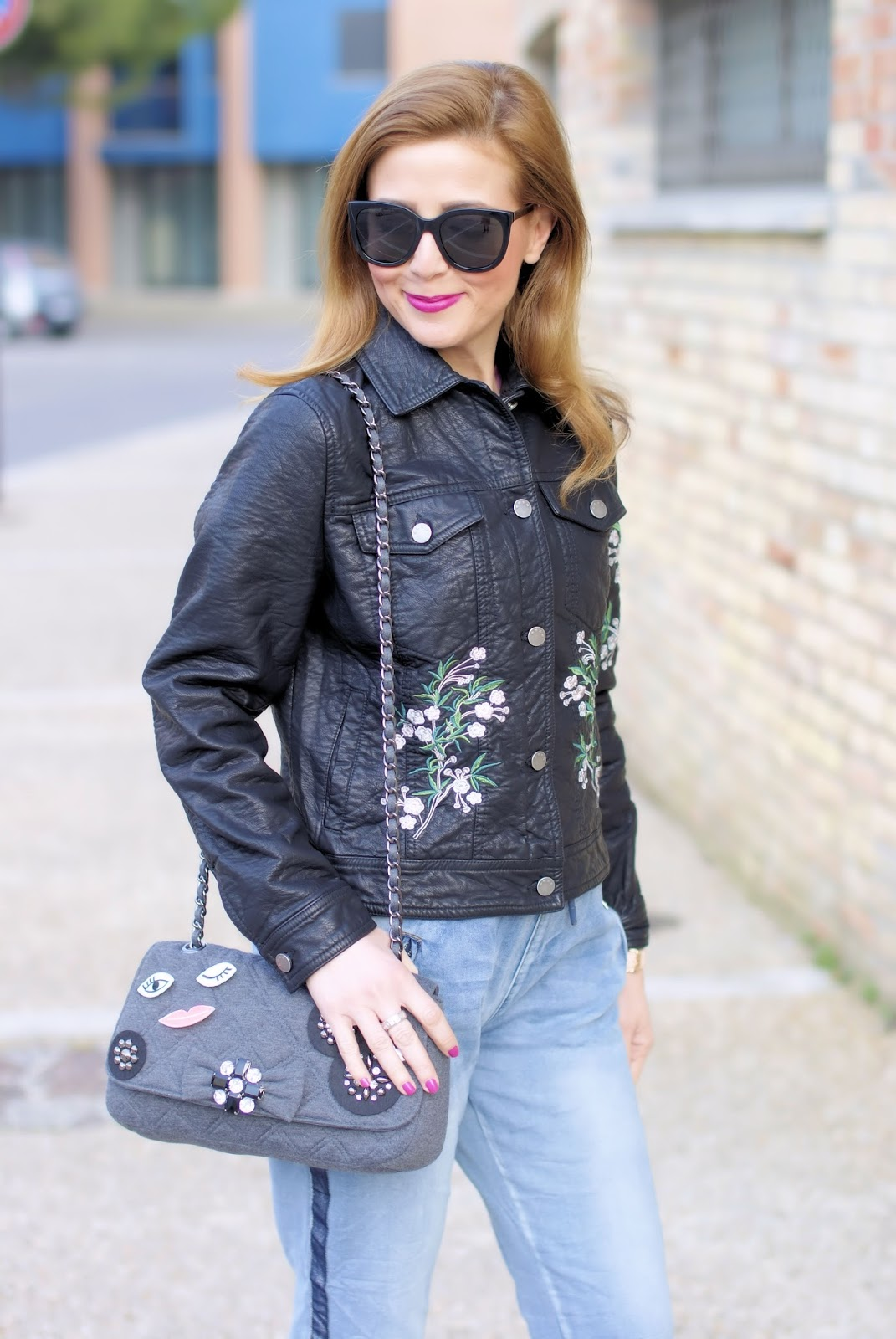 Trendyberry embroidered floral jacket on Fashion and Cookies fashion blog, fashion blogger style