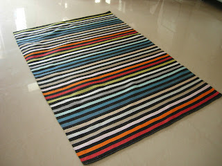 flatweave custom rug for resort