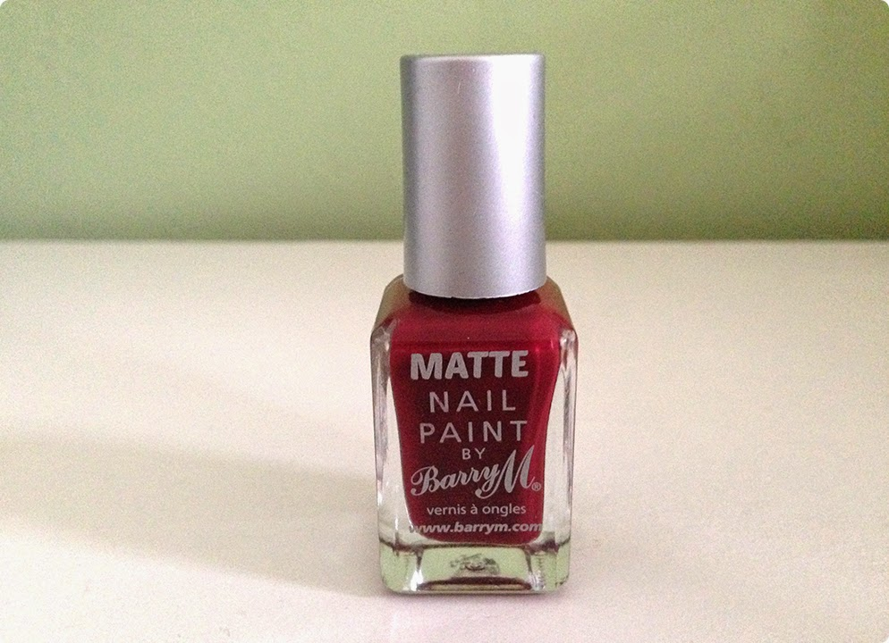 Barry M Matte Nail Paint in Burgundy Crush