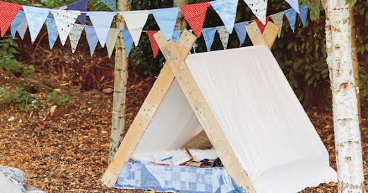How to Make a Glamping Kids Tent from an Upcycled Pallet