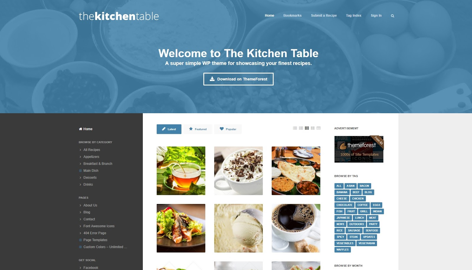 The Kitchen Table Responsive WordPress Theme