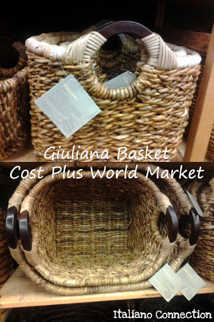 Giuliana Baskets from Cost Plus World Market. Made from handwoven banana leaves.
