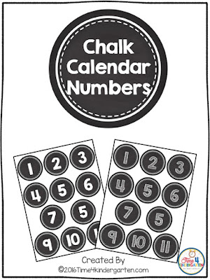 free chalkboard calendar numbers several styles to choose from