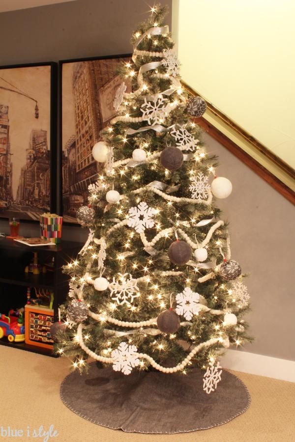 White Felt Snowflake Ornaments