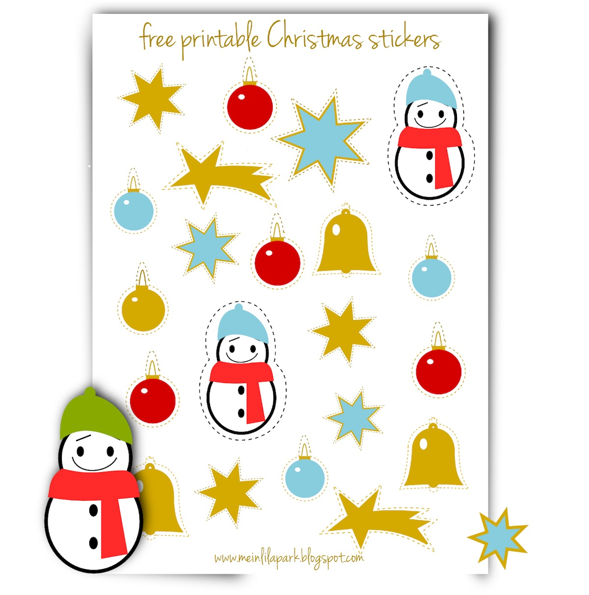 graphic relating to Printable Christmas Stickers identify No cost printable Xmas planner stickers - Agendasticker