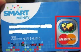 This is what a smart money card looks like