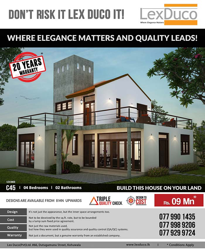 4 bedroom Lex Duco C45 is only 09 Mn on your land
