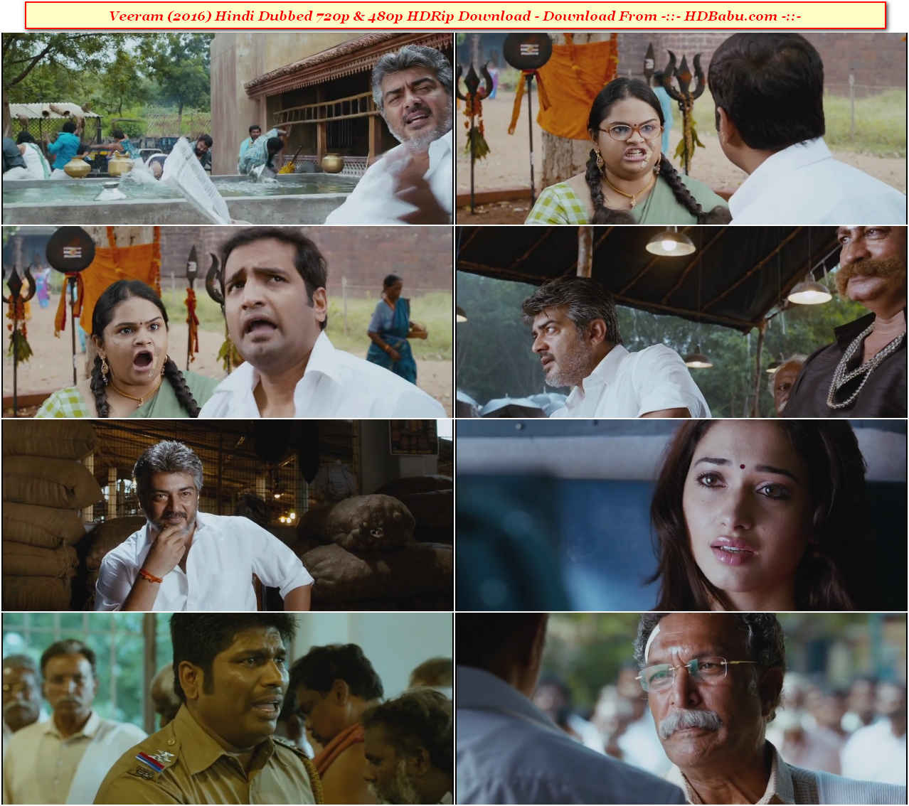 Veeram Hindi Dubbed Full Movie Download 720p & 480p Direct Download Link