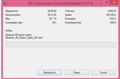 بوابة النت: تعرف على سر في برنامج 7ZIP لضغط ملف بحجم 10GB ...