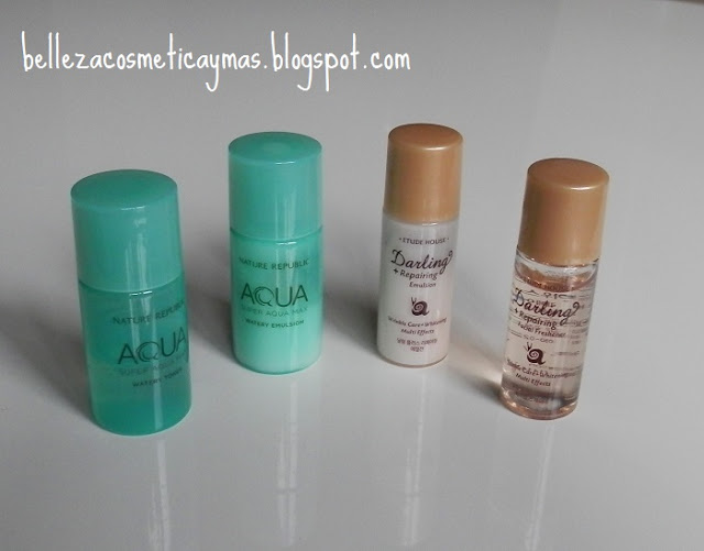 Super Aqua Max de Nature republic y Darling Repairing de Etude House