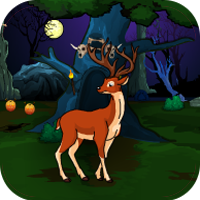 Play Games4Escape Halloween Deer Hunting Forest Escape