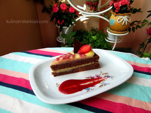 Торта с ягоди