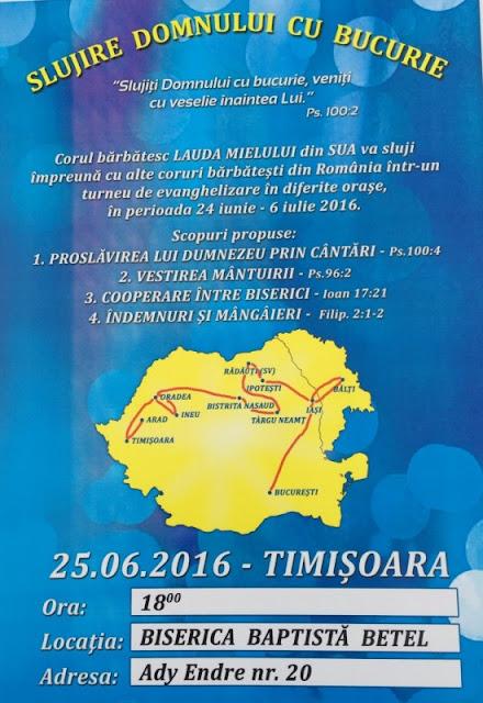 """Concert Corul """"Laudă Mielului"""" la Betel Timisoara - 25 iunie 2016"""