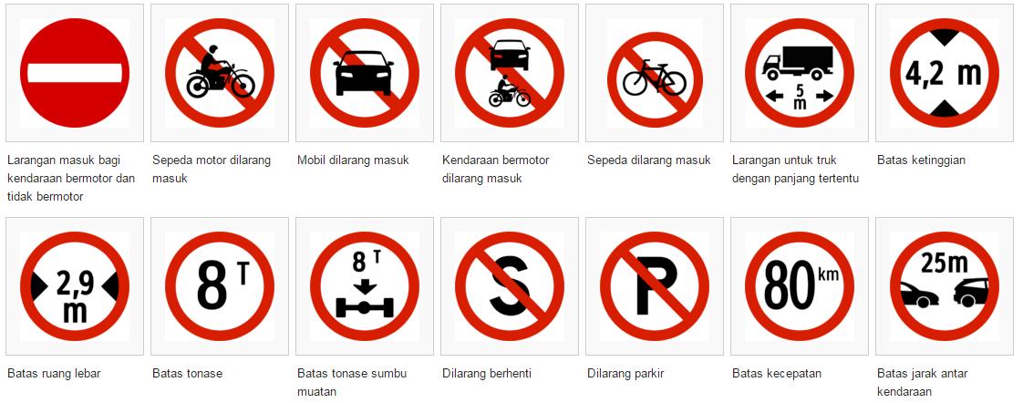 6 Daftar Rambu Lalu Lintas Di Indonesia Yang Perlu Kamu Ketahui