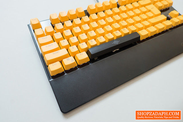 orange translucent keycaps