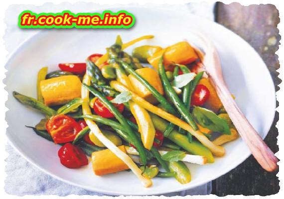 Wok de légumes à l'huile de coco