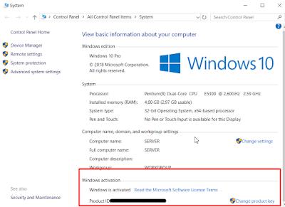 Cara Cek Aktivasi Windows 10