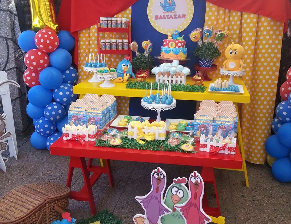 Fiestas infantiles decoradas con la gallina - Manteles de cumpleanos infantiles ...