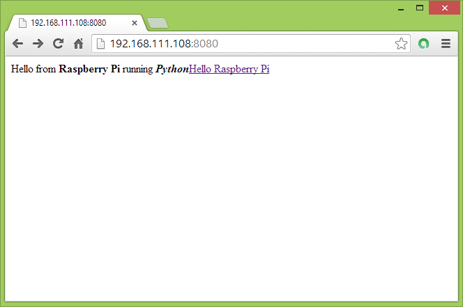 Hello Raspberry Pi: Create a simple custom HTTPServer with